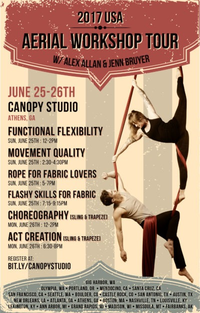 Aerial Workshop Tour with Alex Allan and Jenn Bruyer